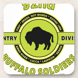 92nd Infantry Division Buffalo Soldiers WW II Beverage Coaster