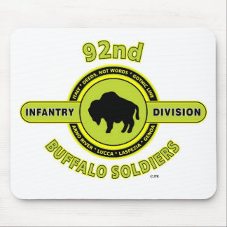 92nd Infantry Division Buffalo Soldiers WW II Mouse Pad