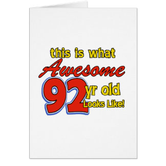 92ND year designs Greeting Card