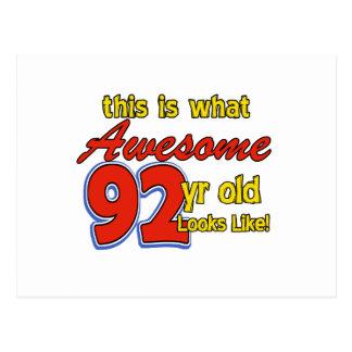 92ND year designs Postcard