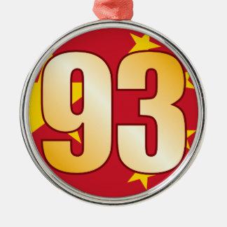 93 CHINA Gold Christmas Ornament