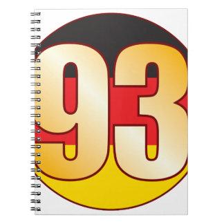 93 GERMANY Gold Notebooks