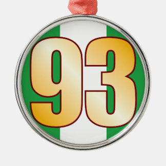 93 NIGERIA Gold Christmas Ornament
