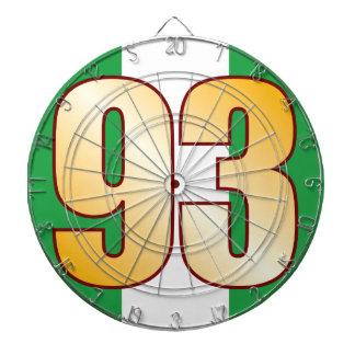 93 NIGERIA Gold Dartboard