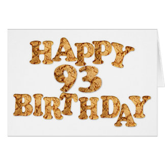 93rd Birthday card for a cookie lover