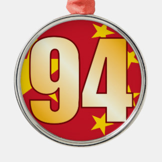 94 CHINA Gold Christmas Ornament