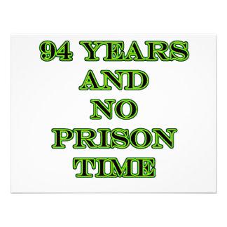 94 No prison time Personalized Announcement