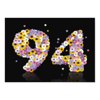 94th Birthday party, with flowered letters Invites