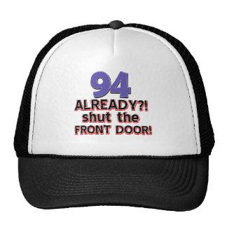 94th year old birthday designs cap