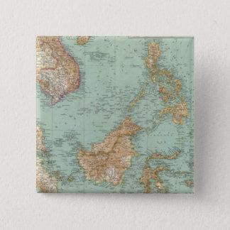 9596 Indocina, Siam, Arcipelago Malese 15 Cm Square Badge