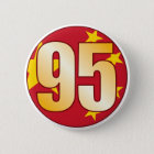 95 CHINA Gold 6 Cm Round Badge