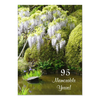 "95 Memorable Years/Birthday Celebration-Nature 5"" X 7"" Invitation Card"