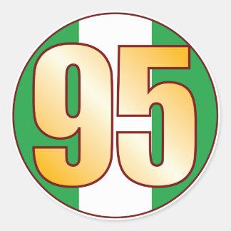 95 NIGERIA Gold Classic Round Sticker