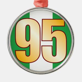 95 NIGERIA Gold Silver-Colored Round Decoration