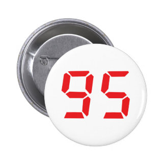 95 ninety-five red alarm clock digital number button