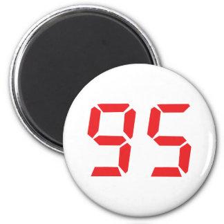 95 ninety-five red alarm clock digital number fridge magnets