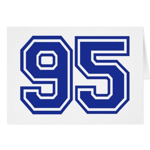 95 - number greeting card