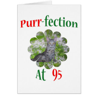 95 Purr-fection Greeting Card