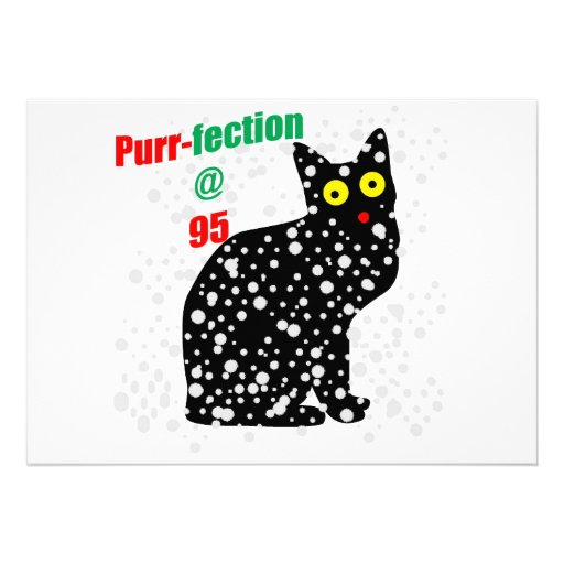 95 Snow Cat Purr-fection Personalized Invite