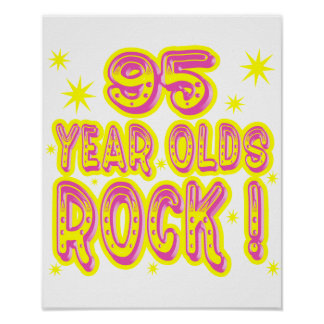 95 Year Olds Rock! (Pink) Poster Print