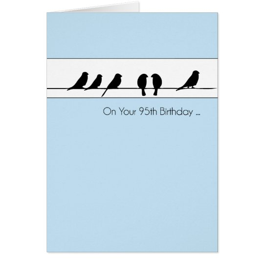 95th Birthday Birds Chorus Card