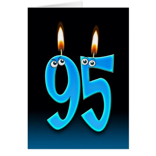95th Birthday Candles Greeting Card
