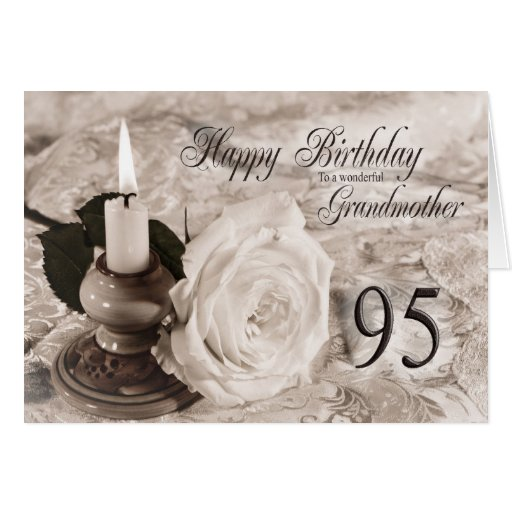 95th Birthday card for Grandmother