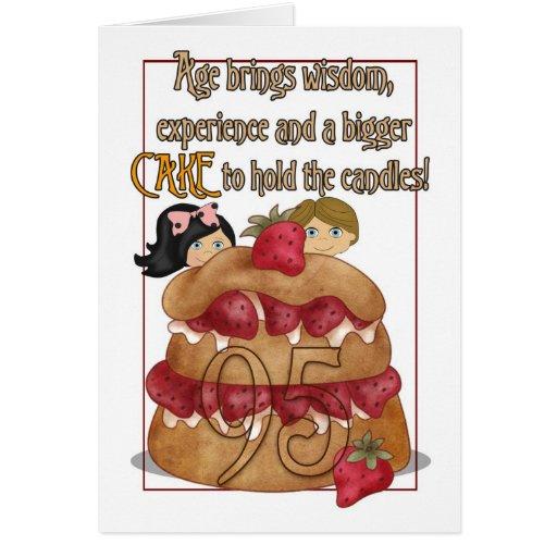 95th Birthday Card - Humour - Cake