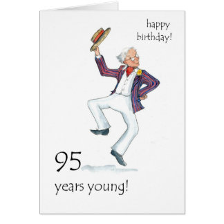 95th Birthday Card - Man Dancing!
