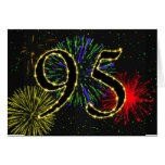 95th  Birthday card with fireworks