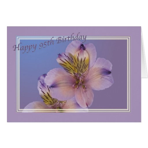 95th Birthday Card with Lavender Flowers