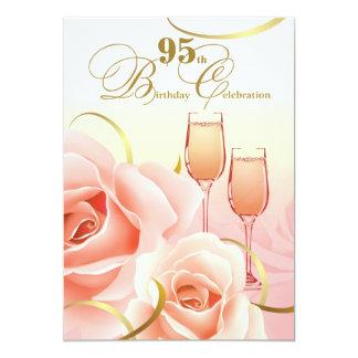 95th Birthday Celebration Custom Invitations