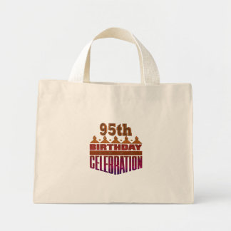 95th Birthday Celebration Gifts Mini Tote Bag