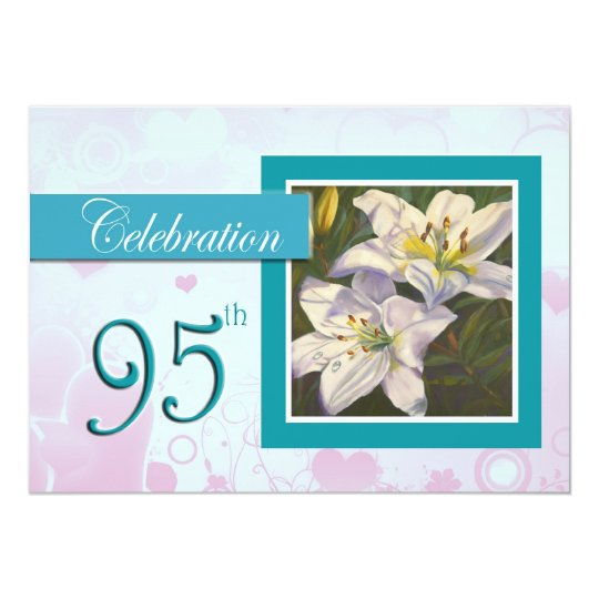 95th Birthday Celebration party invitation - Lily