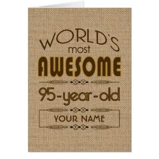 95th Birthday Celebration World Best Fabulous Card