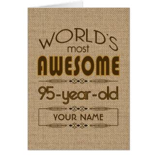 95th Birthday Celebration World Best Fabulous Card