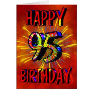 95th Birthday Fireworks Card