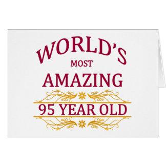 95th. Birthday Greeting Card