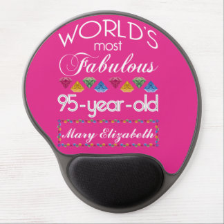 95th Birthday Most Fabulous Colorful Gems Pink Gel Mouse Mat