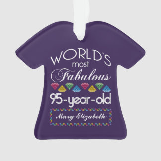 95th Birthday Most Fabulous Colorful Gems Purple