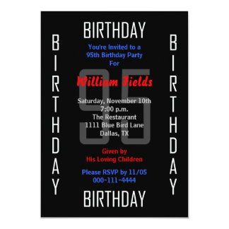 95th Birthday Party Invitation - 95