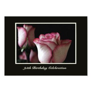 95th Birthday Party Invitation Roses
