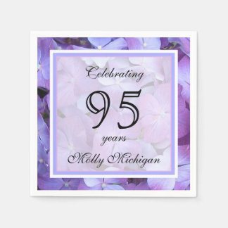 95th Birthday Party Paper Napkins Standard Cocktail Napkin