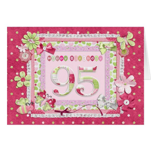 95th birthday scrapbooking style cards