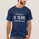 95th Birthday t shirt for men | Customisable age