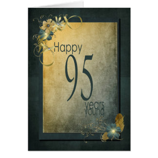 95th Birthday-vintage frame Greeting Card