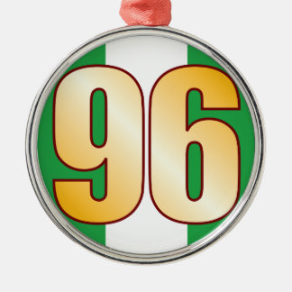96 NIGERIA Gold Christmas Ornament