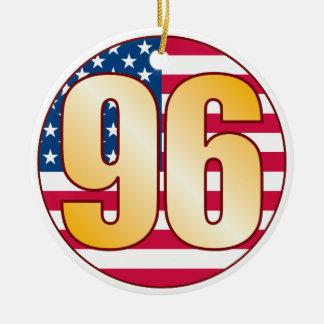 96 USA Gold Christmas Ornament