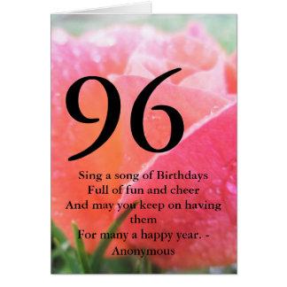 96th Birthday Card