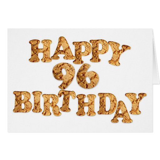 96th Birthday card for a cookie lover